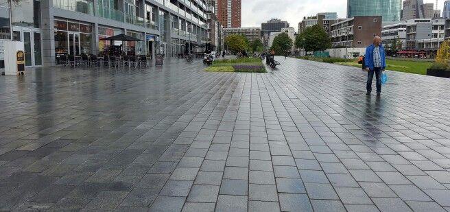 Halfsteensverband groten langen stenen, Rotterdam