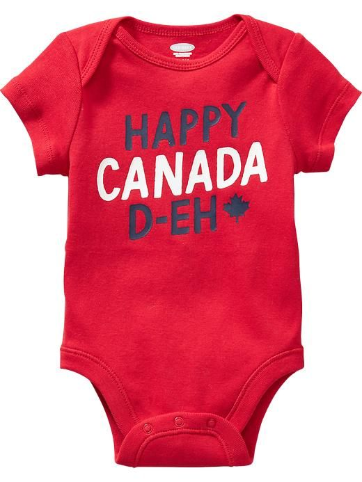 Old Navy Canada Graphic Bodysuit For Baby Robbie Red
