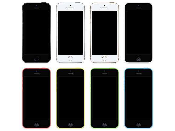 A complete set of mockups containing all the new iPhones (5s and 5c) that have been released some days ago. Free PSD designed byLouie Manti...