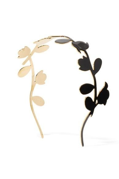 Easy ways to spring-proof your racing carnival wardrobe: Marni enameled gold-tone headband, $532.