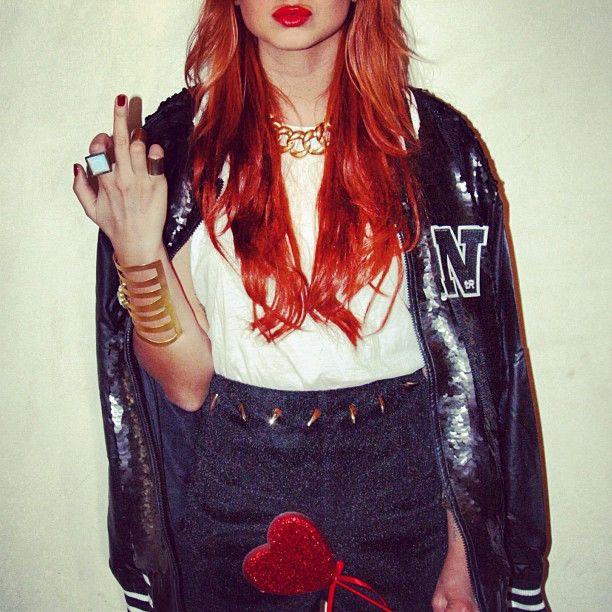 #nonethericher #bomber #skirt #jewellery #heart #ulyana #thestylerow