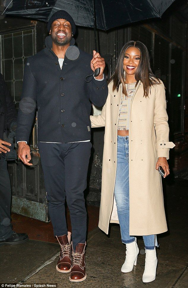 Gabrielle Union Gives Peek At Taut Tummy On Date With -2314