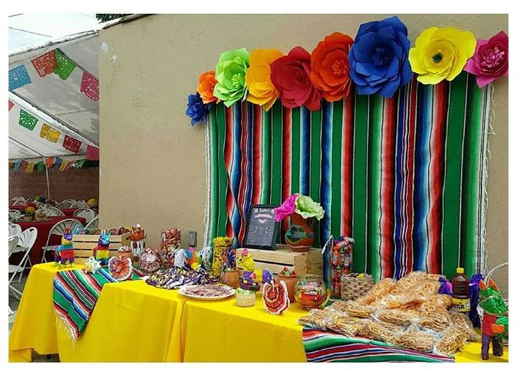 colorful candy table for my daughters mexican fiesta