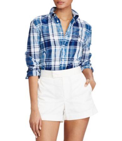 Polo Ralph Lauren Boy Fit Cotton Madras Shirt #Dillards