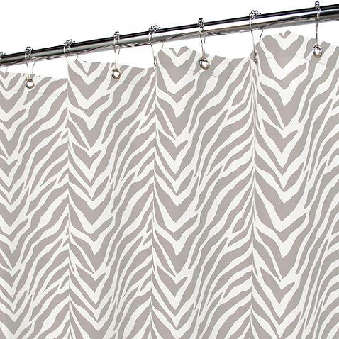 smith zebra zebra silver 72 x 72 watershed shower curtain bed bath u0026 beyond