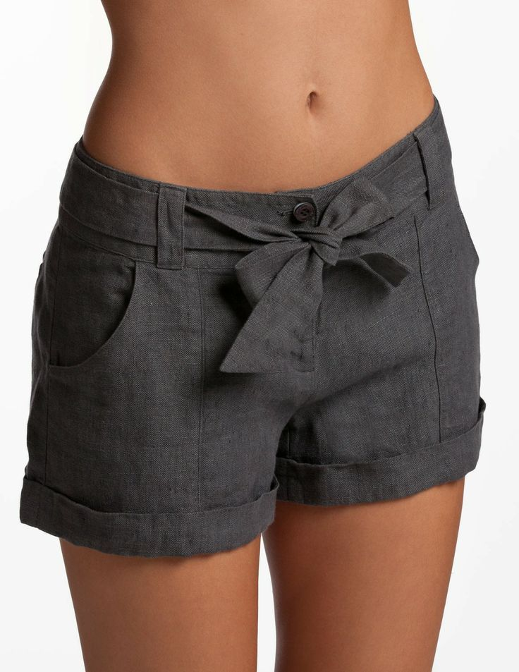 Grey Ladies Shorts