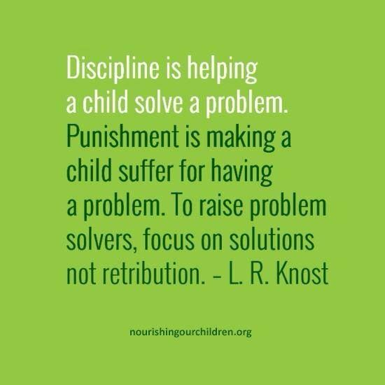 Punishment vs Discipline: Read about teachers' reactions to this image when I posted this of Facebook. Where do you draw the line between the two.