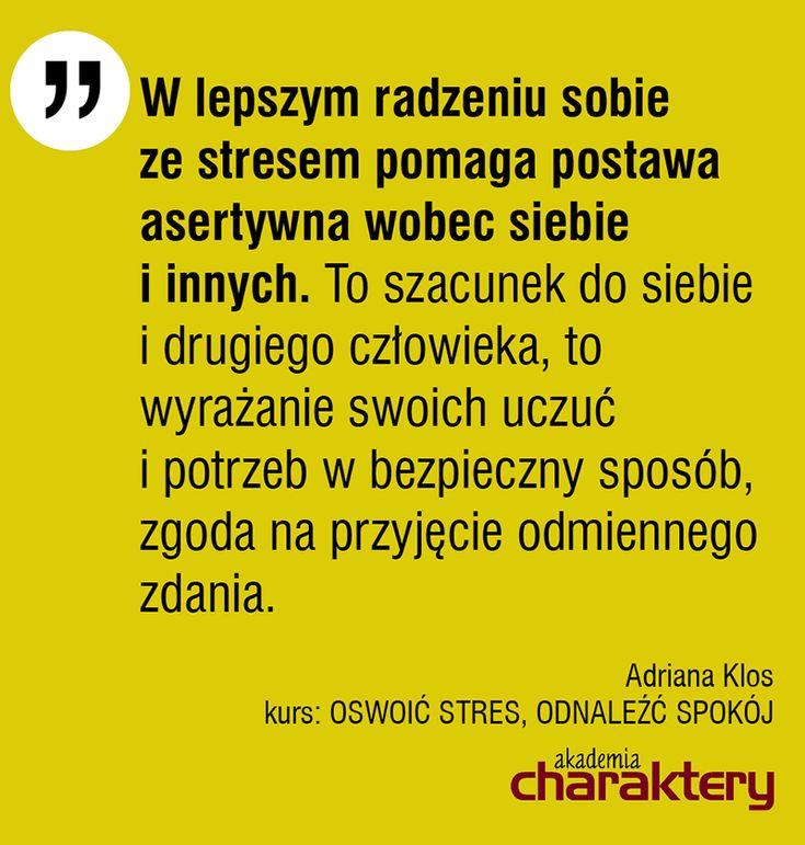 Polecam kurs OSWOIĆ STRES, ODNALEŹĆ SPOKÓJ. http://www.akademiacharaktery.pl/courses/detail/56