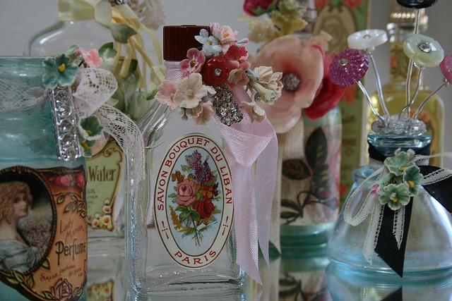 vintage bottle makeoerVintage Bottle