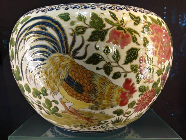 "Zsolnay ""cock"" vase, Hungary"