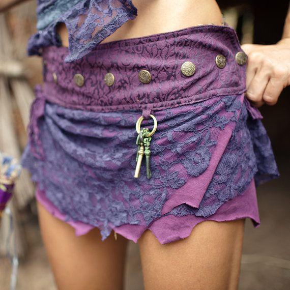 Falda corta de Pixie púrpura por TimjanDesign en Etsy