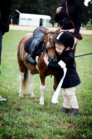 Cute baby with cute baby horse :D