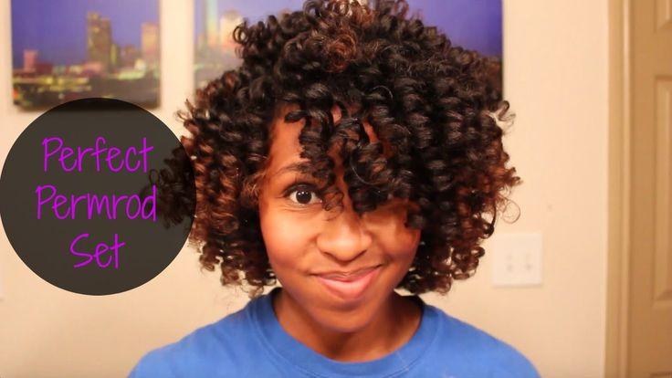 Natural Hair || Super Defined Perm rod Set