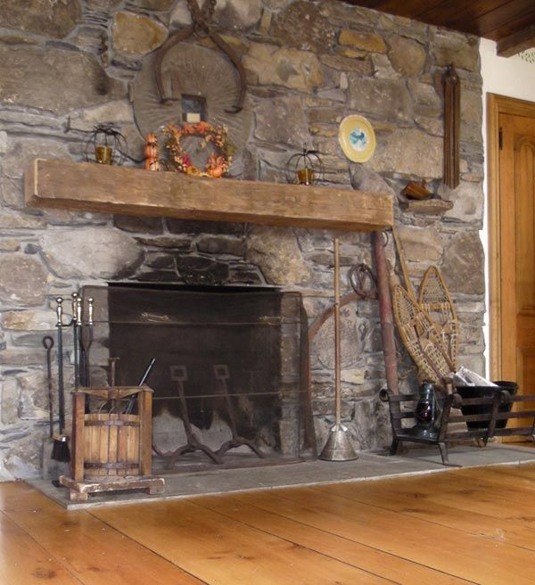 Stone Fireplace Surrounds Ideas Hand Hewn Mantels | Hand Hewn Mantle Beam | House In 2019
