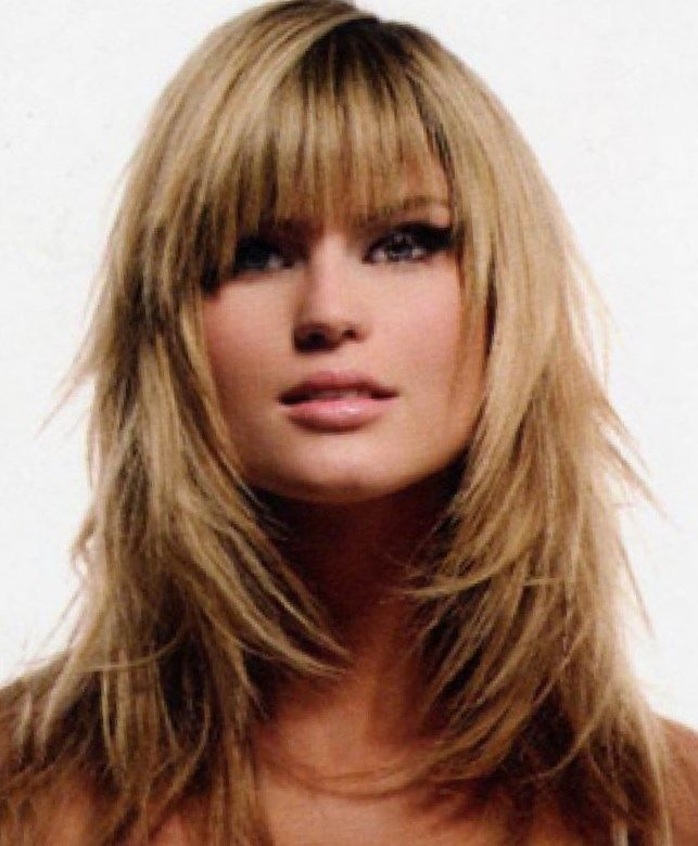 Best 25+ Layered Haircuts With Bangs Ideas On Pinterest