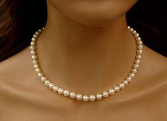 Echte Perlenkette Süßwasser Zuchtperlen AAA von Schmucktruhe