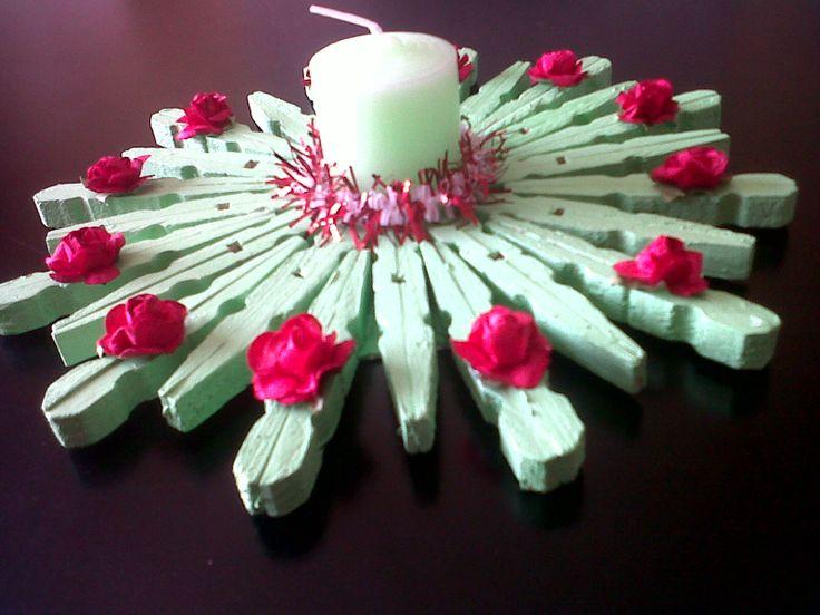 Washingpeg candle holder
