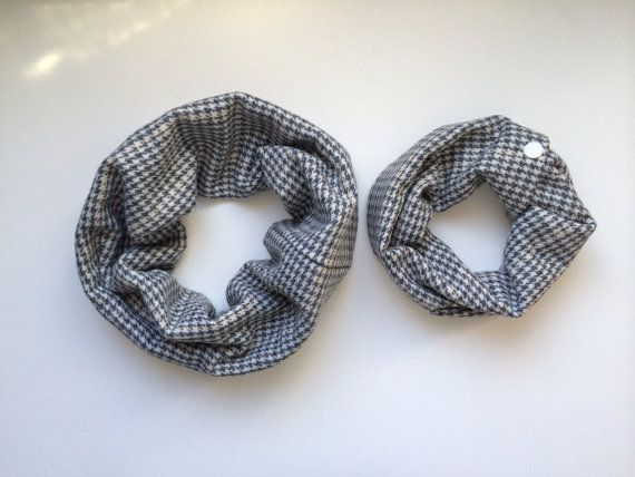 Daddy/Mommy & Me Cowl Set (Baby or Toddler) - houndstooth OOAK on Etsy, $25.00 CAD