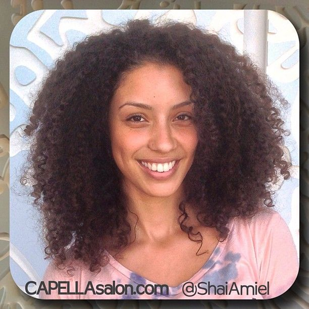 Christina Santini AKA Santini Houdini always nice to have a visit from our friend haircut and styling by Shai Amiel www.CAPELLAsalon.com #DevaCurl #DevaCut
