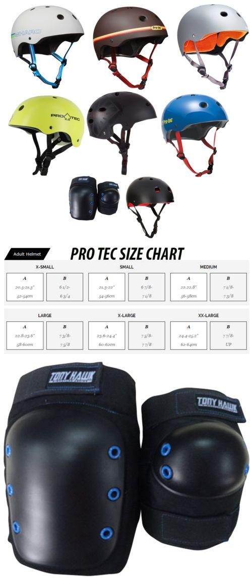 Protective Gear 36317: Pro Tec Skateboard Helmet Classic Skate + Tony Hawk Knee / Elbow Pads BUY IT NOW ONLY: $36.95
