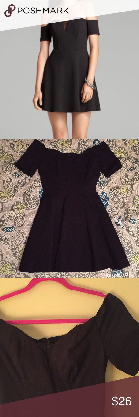 Guess brand little black dress Guess brand off the shoulder dress. Mesh in the front and back. Sweetheart neckline. Size 6. Guess Dresses Mini