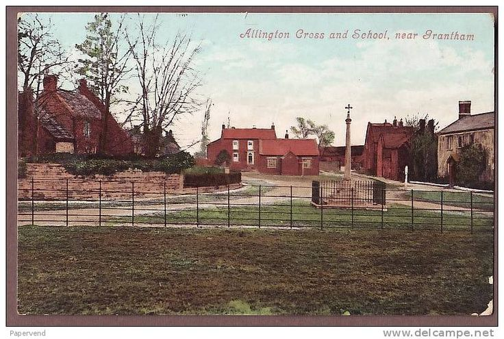 Allington Cross and Old School. This picture is earlier than 1906 when the school moved to its current location.