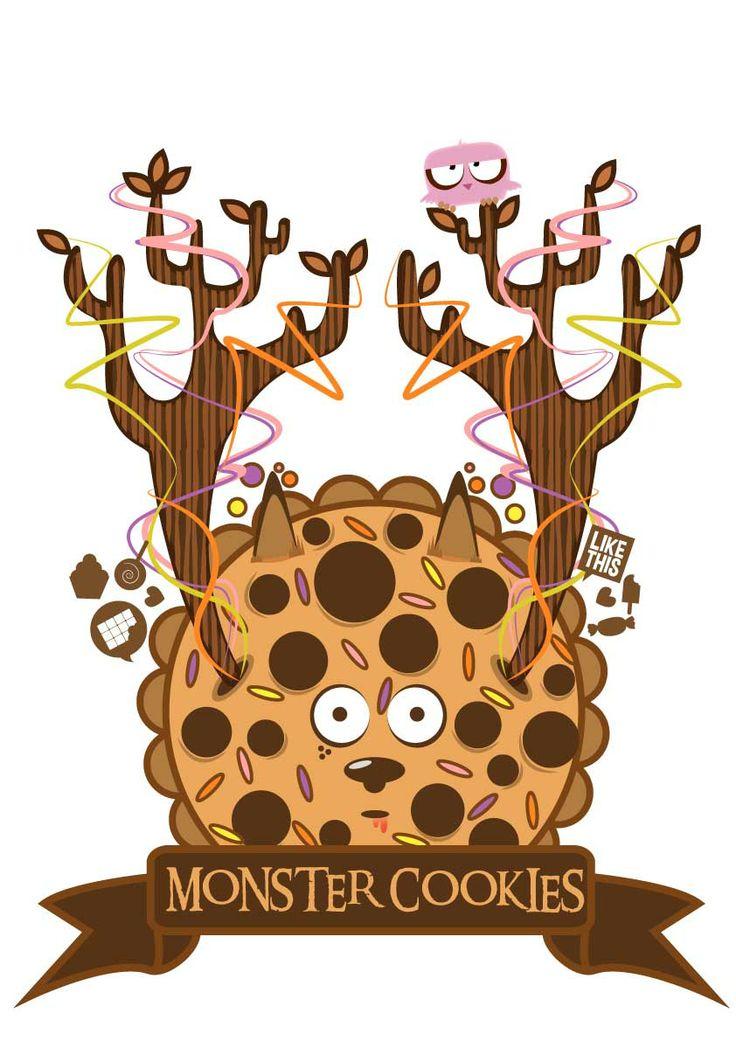 Monster Cookies | Vector | Illustration | Concept | Character Design | Fun | Digital Art