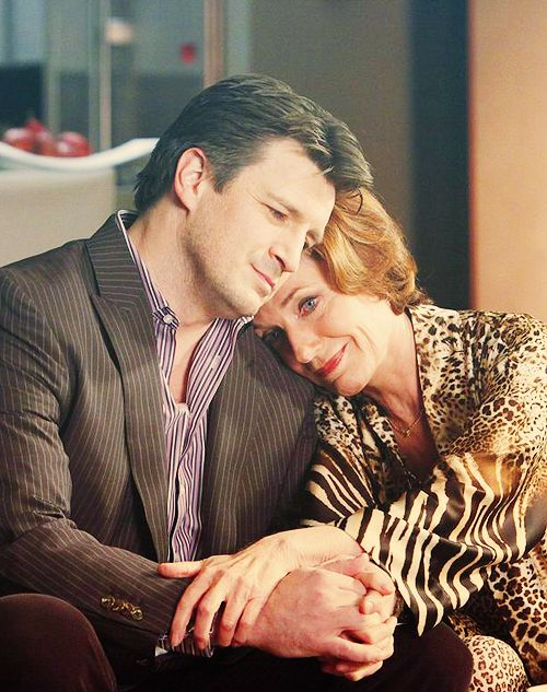 Castle and his mother, Martha. (Nathan Fillion and Susan Sullivan)