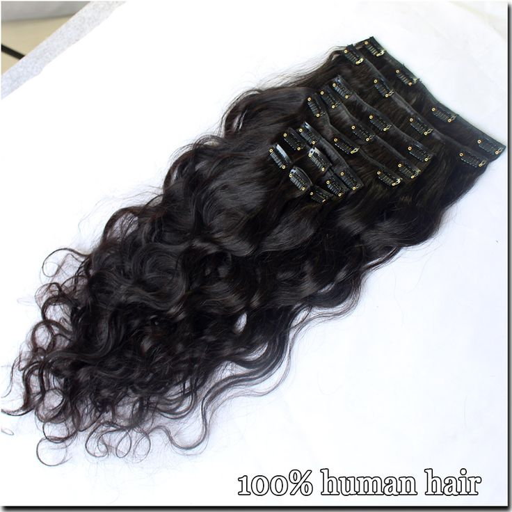 Clip In Human Hair Extensions 7A Brazilian Human Hair Clips 9PCS 120g Brazilian Body Wave Human Hair Clip in Extensions