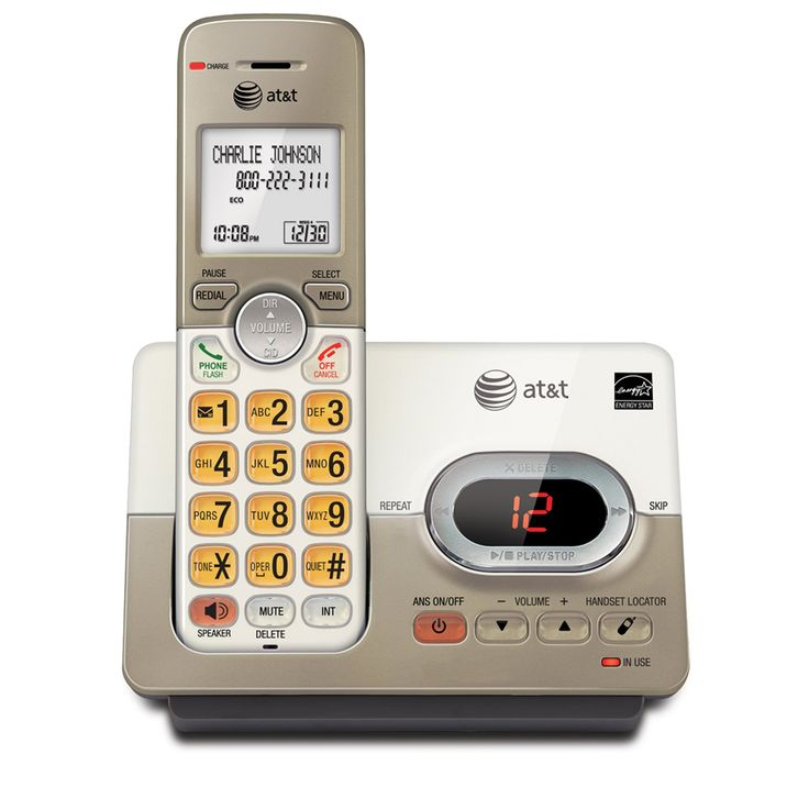 AT&T EL52113 DECT 6.0 Phone Answering System with Caller ID/Call Waiting, 1 Cordless Handsets
