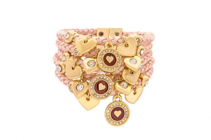 Pulseiras Sofisticadas, pulseirismo, pingente, dourado, rose quartz, rosa claro, rose