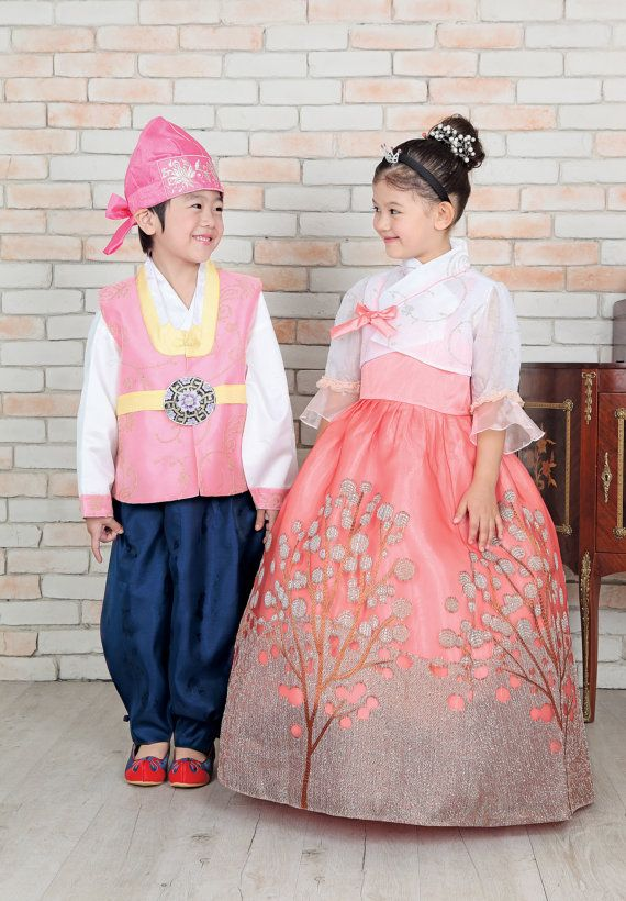 Korean dress is called Hanbok for girl's first by graceBshong, $99.00