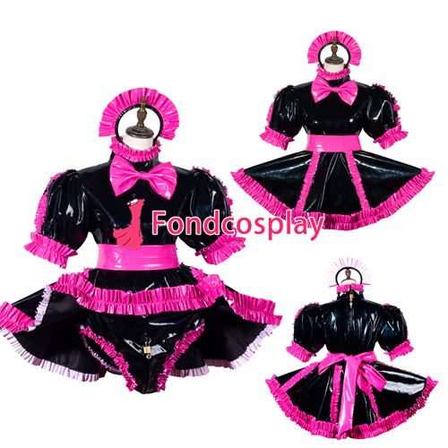 Sissy maid pvc dress lockable Uniform cosplay costume Tailor-made[G3790] #Affiliate