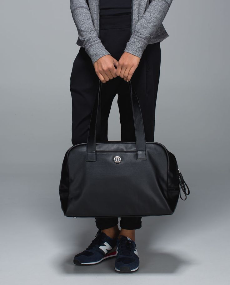 If yoga is a sanctuary for our soul, this semi-structured bag is a sanctuary for our stuff. We made it with a large zipper opening for easy stash and grabs, plus pockets for our water bottle, laptop and phone. A special pocket keeps sweaty gear seperate to help maintain inner peace.