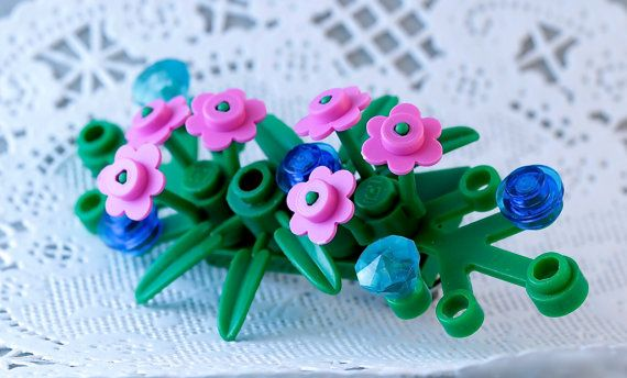 LEGO® boutonniere for prom ~ Prom flowers for guys ~ Prom boutonniere ~ Rose boutonniere ~ White Boutonniere flowers ~ Flower boutonniere - Get 30% off your purchase! Details at brickandbutton.com