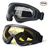 Ski Goggles, Snow Sports Goggles for Youth, Men & Women with UV Protective Anti-Glare Lenses Windproof Dustproof Bicycle Motorcycle Goggles 2-Pack by UUAT - http://snowboardtricksguide.com/2017/04/07/ski-goggles-snow-sports-goggles-for-youth-men-women-with-uv-protective-anti-glare-lenses-windproof-dustproof-bicycle-motorcycle-goggles-2-pack-by-uuat/