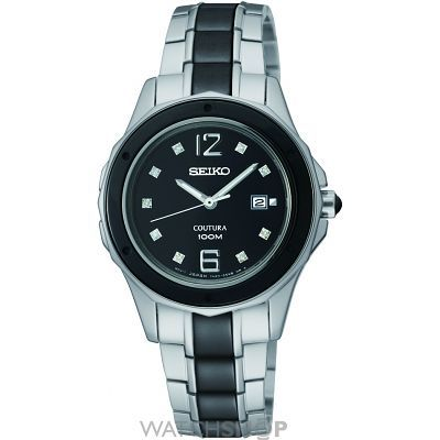Ladies Seiko Coutura Ceramic Watch SXDF01P9