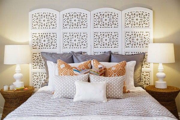 Using room dividers as headboards - Little Piece Of Me