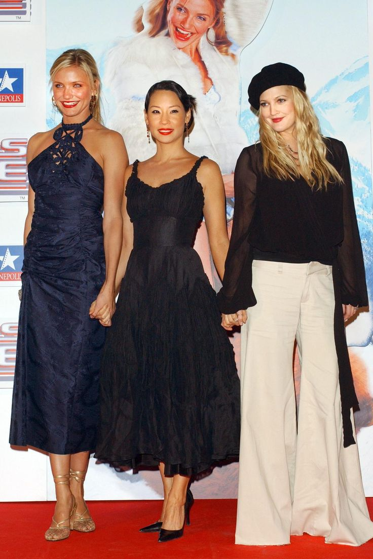 July 2, 2003  Where: With Cameron Diaz and Lucy Lui at the premiere of Charlie's Angels: Full Throttle in Madrid, Spain.