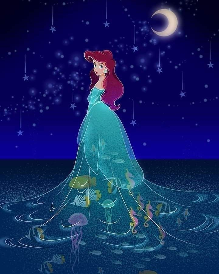 Mermaid Disney Princess Cartoons Cartoons For Kids Mickey Mouse In 2020 Disney Princess Wallpaper Disney Princess Drawings Disney Princess Art
