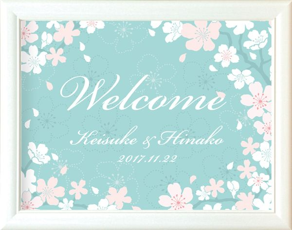 結婚式 ウェルカムボード「かのん桜」|ファルベ