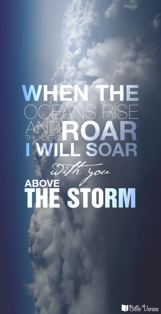 Find out more at http://ibibleverses.christianpost.com/he-will-soar-with-you-above-the-storm/  From what verse will this be? #iBibleverses #Jesus #Christ