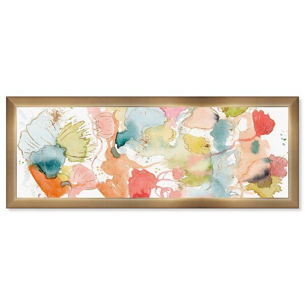 Abstract My Wild Garden Watercolor Picture Frame Graphic Art Print On Paper Watercolor Pictures Garden Watercolor Graphic Art Print