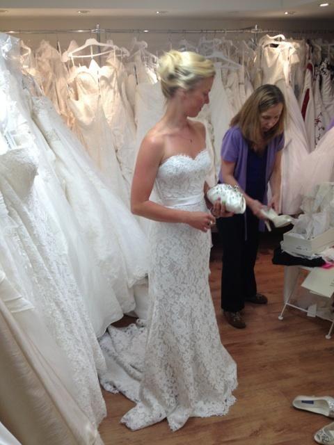 Trying my dress