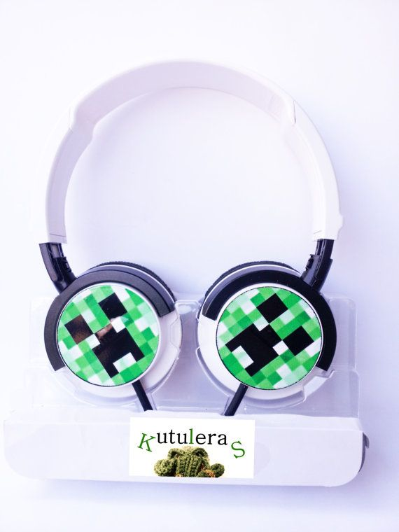 MINECRAFT CREEPER AURICULARES  friki  mp3 pc ps4 xbox por Kutuleras, €34.00