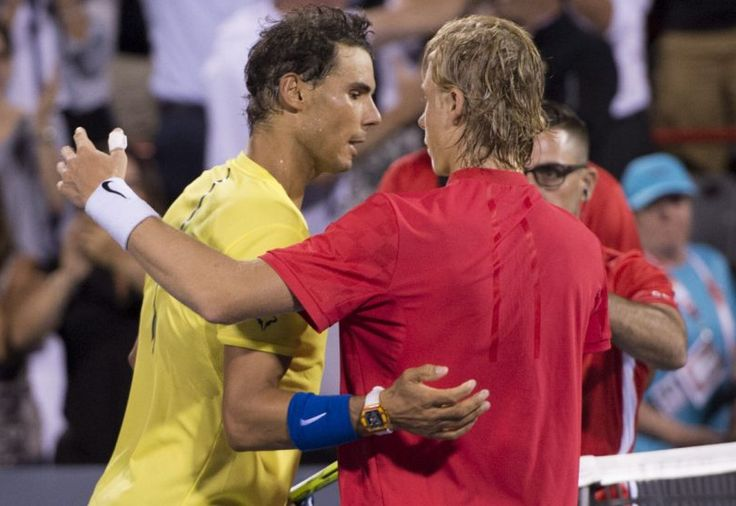 Canadian tennis // Rogers Cup 2017 (Day 4) // Picture : Rafael Nadal & Denis Shapovalov (Copyright Paul Chiasson/The Canadian Press)