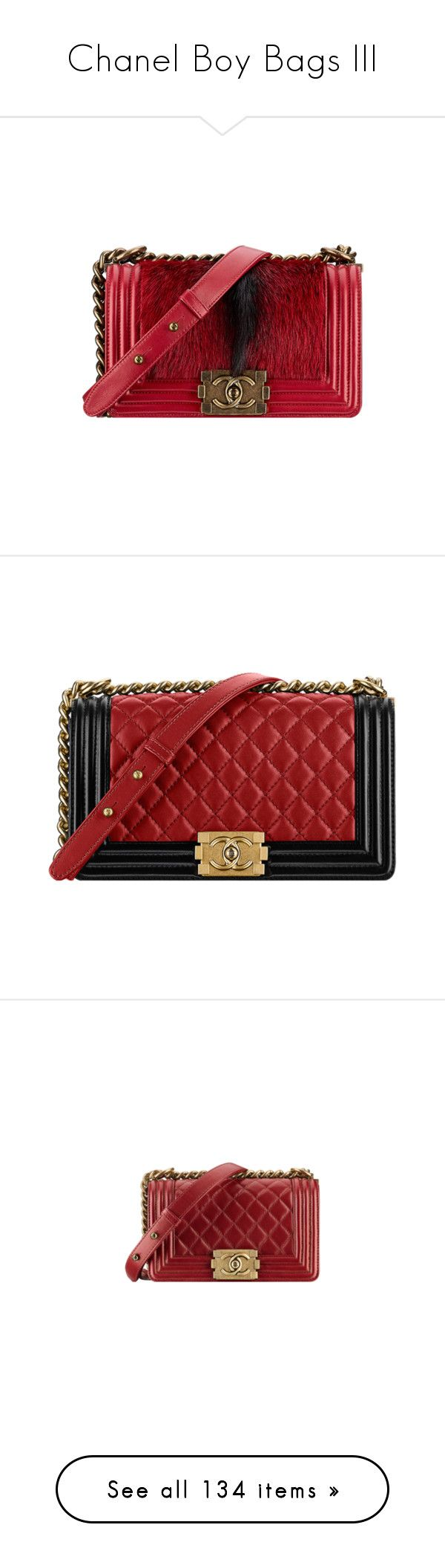 """""""Chanel Boy Bags III"""" by sakuragirl ❤ liked on Polyvore featuring bags, handbags, chanel, chanel bags, bolsa, chanel handbags, handbag purse, red handbags, long purse and purse bag"""