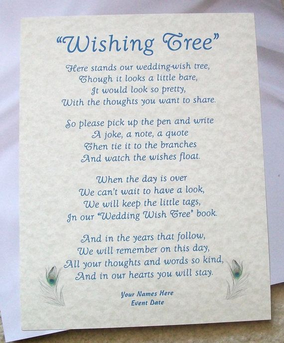 Diy Rustic Wedding Wish Tree: Wishing Tree Tags Instructions Sign Rustic Peacock By