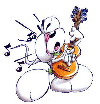 Diddl met gitaar