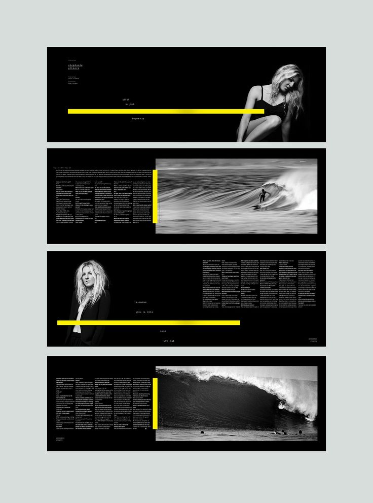 Stephanie Gilmore feature. #editorialdesign #layout #typography #monsterchildren #printdesign